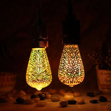 Tianfan светодиодные лампы 3d светильник лампа фейерверк 4 Вт