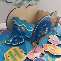 Wood Magnetic Children Fishing Toys Pool Set 1 2 3 And a Half Year Old Weeks CHILDREN'S Men And Women Baby Educational