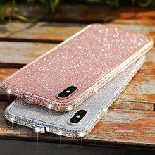 Glitter Rhinestone Aluminum Frame On For iPhone X XS Max XR