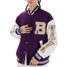 Harajuku Streetwear Women Oversized Bomber Jackets Hip Hop Baseball Uniforms Unisex Men Women Autumn Winter Coat Top Clothes