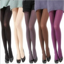 Hot Classic Sexy Women 120D Opaque Footed Tights Pantyhose Thick Tights Stockings Women Spring Autumn Fashion Tights(China)