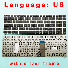 Keyboard LG15N53 15ND530 with Silver-Frame US Standard-Version for Lg15n53/15n530/15nd530