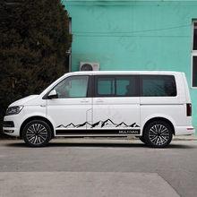 Autocollant en vinyle pour Volkswagen Multivan T5 T6, pour voiture de Sport en plein air, californie, carrosserie automobile, bandes latérales de porte, graphiques de montagne