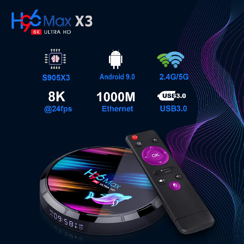 Android 9.0 TV Box Media Player 4K Smart TV Box 2.4G And 5G Wifi BT4.0 H96Max 4GB 64GB Multimedia Player GB Set Top Box Android