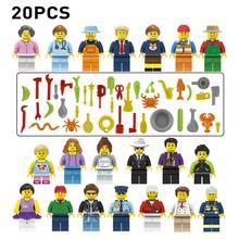 20 шт./компл. гребень мороженое кирпичи фигурки куклы мультфильм город строительные блоки Legoings Armed SWAT строительные кубики, детские игрушки