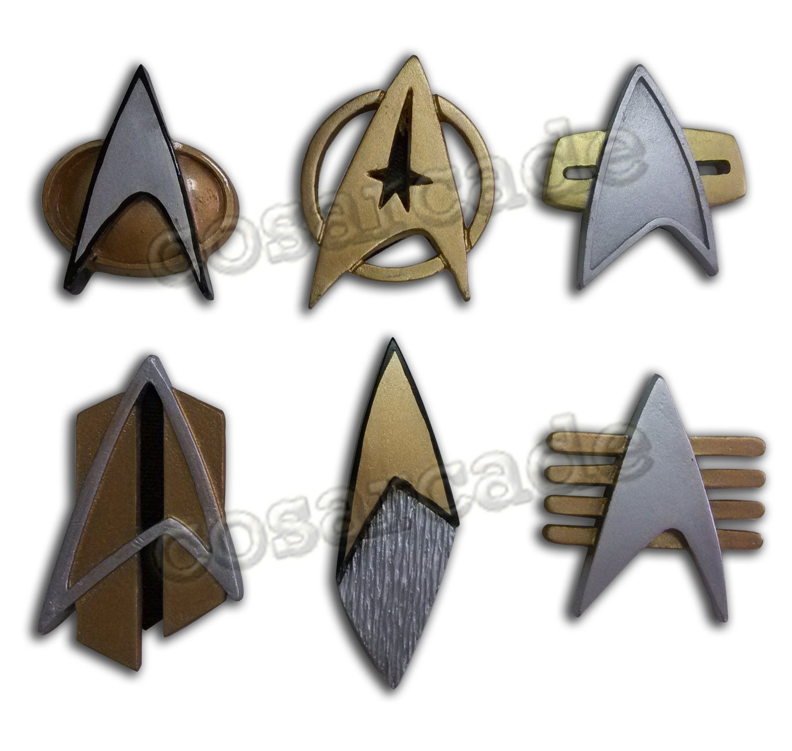 Star Cosplay Badges Trek Starfleet Captain Badge Combadge Rank Pip Pin Insignia Brooch Halloween Carnival Prop