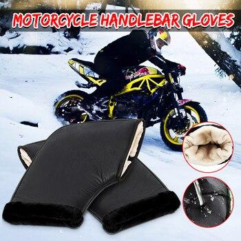2 stücke Wasserdichte Motorrad Roller Winter Handschuhe Quad Bike Lenker Hand Pelz Muffs Handschuhe Mitts Winter Wärmer
