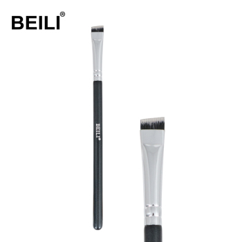 BEILI Black pink Brow brushes Professional Synthetic Hair thin Eye brow liner Brow concealer Makeup Tool Single Makeup Brushes