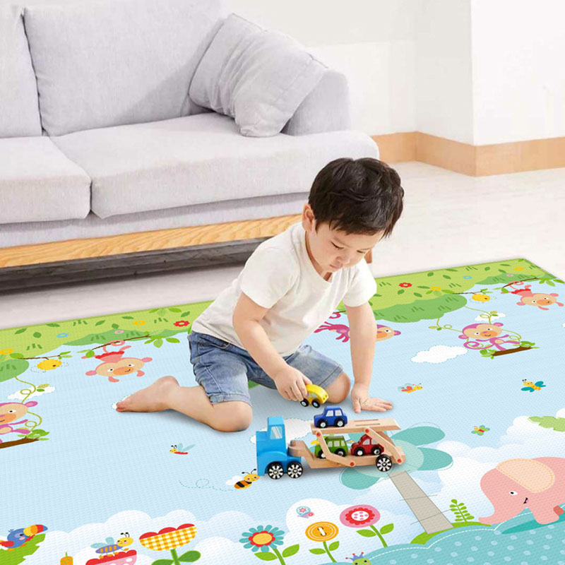 Baby Play Mat Foldable Creeping Mat 2M*1.8M Anti-Skidding Cartoon Floor Mat Baby Learning To Crawl Waterproof Mat