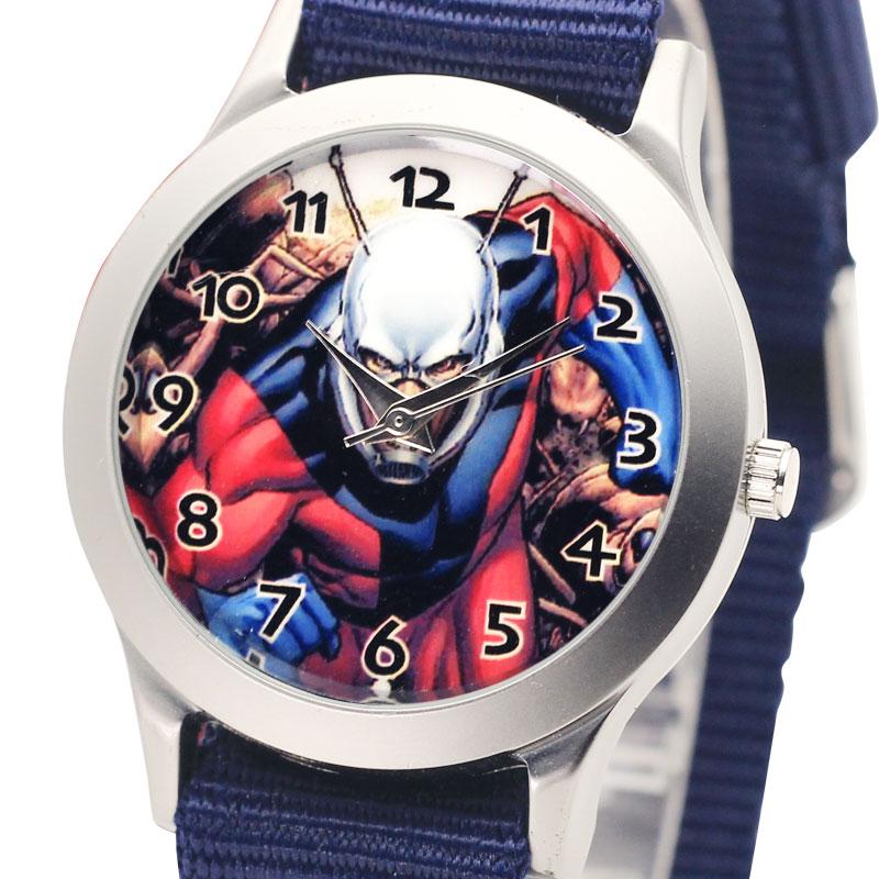 Anime Fashion Children Canvas Strap Wrist Watch Cute Kids Quartz Watches Boys Luminous Nylon Sports Clock Gift Ant Girls Watch