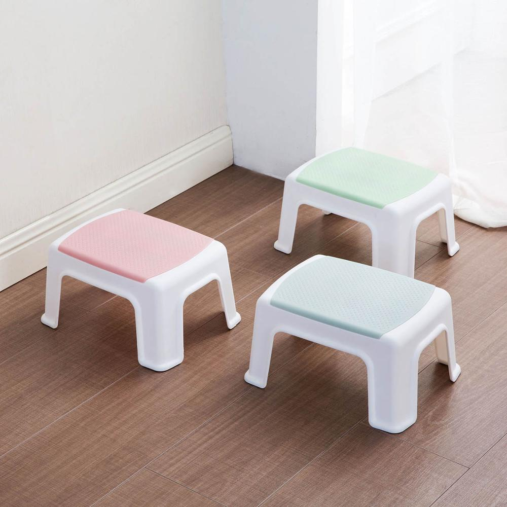 1Pc Thicken Plastic Small Stools Living Room Non-slip Bath Bench Children Stool Changing Shoes Stool Kids Furniture Household