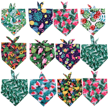Scarf Bibs Pets-Accessories Bandanas Puppy Dogs Summer Cat 50pcs Polyester Fruit-Style