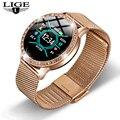 LIGE Relogio, цифровые, водонепроницаемые, спортивные, для iPhone, Роскошные, кровяное давление, модные, калории, для женщин, мужчин, умные, электронны...