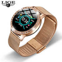 LIGE Relogio digital feminino Waterproof sport for iPhone Luxury Blood Pressure Fashion Calorie Women Men Electronic wrist Watch