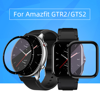 Soft Fibre Glass Protective Film Cover For Amazfit Watch GTR2/GTS2/Bip s For Xiaomi Huami Full Screen Protector Case bapick full cover soft tpu bumper for xiaomi amazfit bip case smart watch screen protector for amazfit bip s case accessories