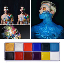 Body Paint Makeup Art Painting Drawing Pigment Flash Glow Color Fancy For Party Halloween Carnival Waterproof Beauty