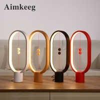 Aimkeeg Heng Balance Lamp USB Powered Decoration Bedroom Lights Warm White Eye-Care LED Night Light Novel Light Gift for Kids