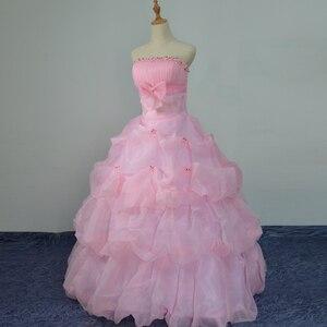 Image 1 - 3 色利用可能な 2018 韓国風スウィートプリンセスのウェディングドレス大サイズ赤、白、ピンクレトロ蓮花嫁のウェディングドレス