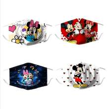 Adult Mask Disney Mouse Mickey Haze And Dust CAN-BE-PUT-FILTER Gift Reused Christmas