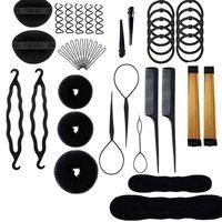 2020 novo 43pc acessórios de estilo de cabelo kit cabelo bun maker acessórios para cabelo feminino menina|Aparadores de pelo| |  -