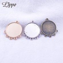 30 pçs antigo prata bronze brinco conectores 14mm 16mm 20mm base de cabochão brincos definir pendurado orelha diy jóias
