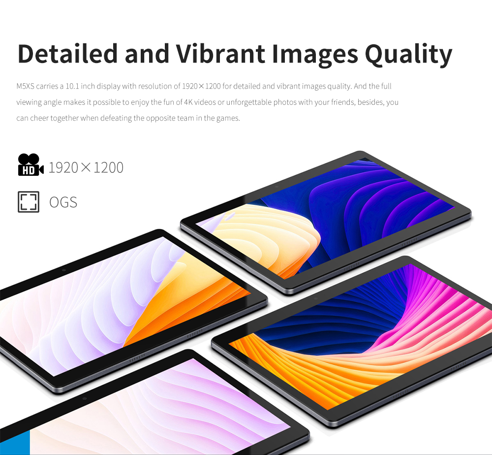 ALLDOCUBE M5XS Tablets 10.1 inch Android 8.0 Dual 4G 10 Core Google Play 3G  Tablet PC 3G RAM 32 ROM 2.4G+5G WIFI Phone Call