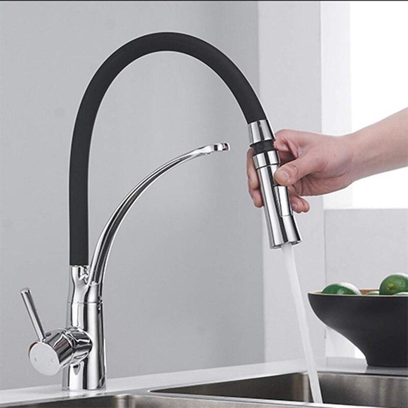 de rotação bico torneira da cozinha água quente e fria