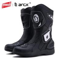 ARCX Motorcycle Boots High Quality Leather Waterproof Moto Boots Motocross Boots Men Shoes Motorbike Riding Shoes Botas Moto