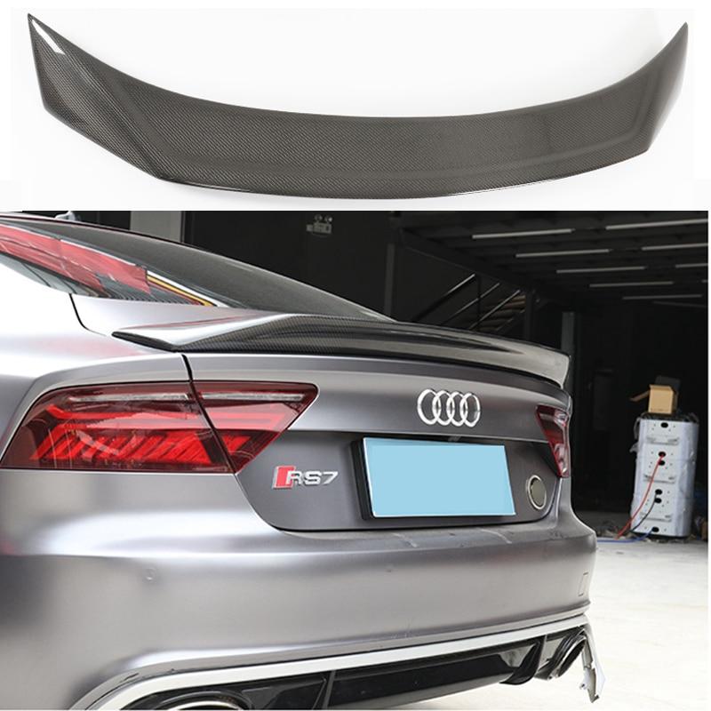 Автомобильный спойлер для заднего крыла из углеродного волокна для AUDI A7 S7 RS7 2013 2014 2015 2016 (стиль karztec)