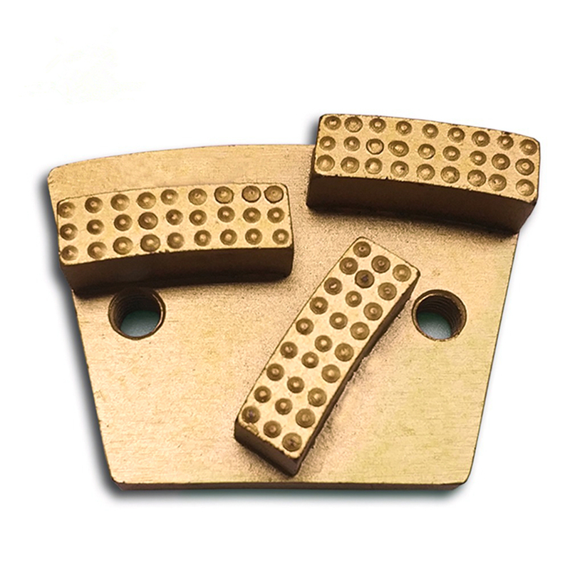 GT65 Trapezoid Diamond Grinding Shoes For Rough Concrete Floor Metal Bond Grinding Pads Split PCD Epoxy Coating Removal 12PCS