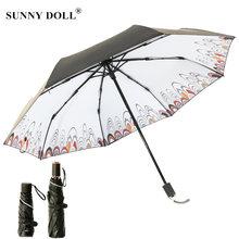 Женский мини зонт с защитой от УФ излучения