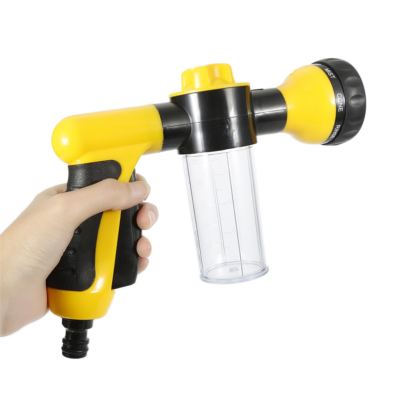 Washing Tool Car Wash Soap 8 In 1 Jet Spray Gun Soap Dispenser Garden Watering Hose Nozzle Car Washing Tool