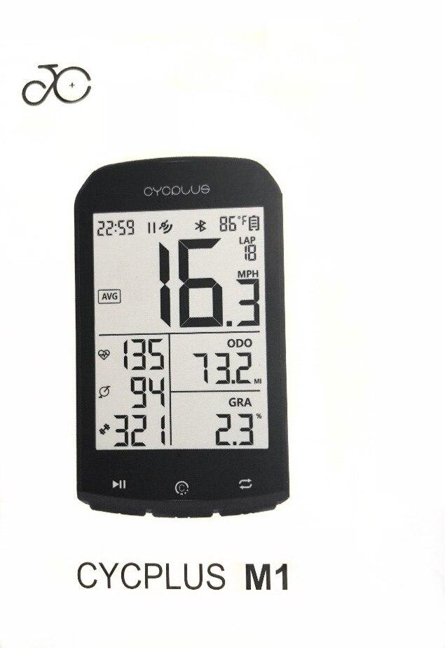 CYCPLUS M1 vélo GPS ordinateur vélo ordinateur compteur de vitesse sans fil vélo ordinateur chronomètre
