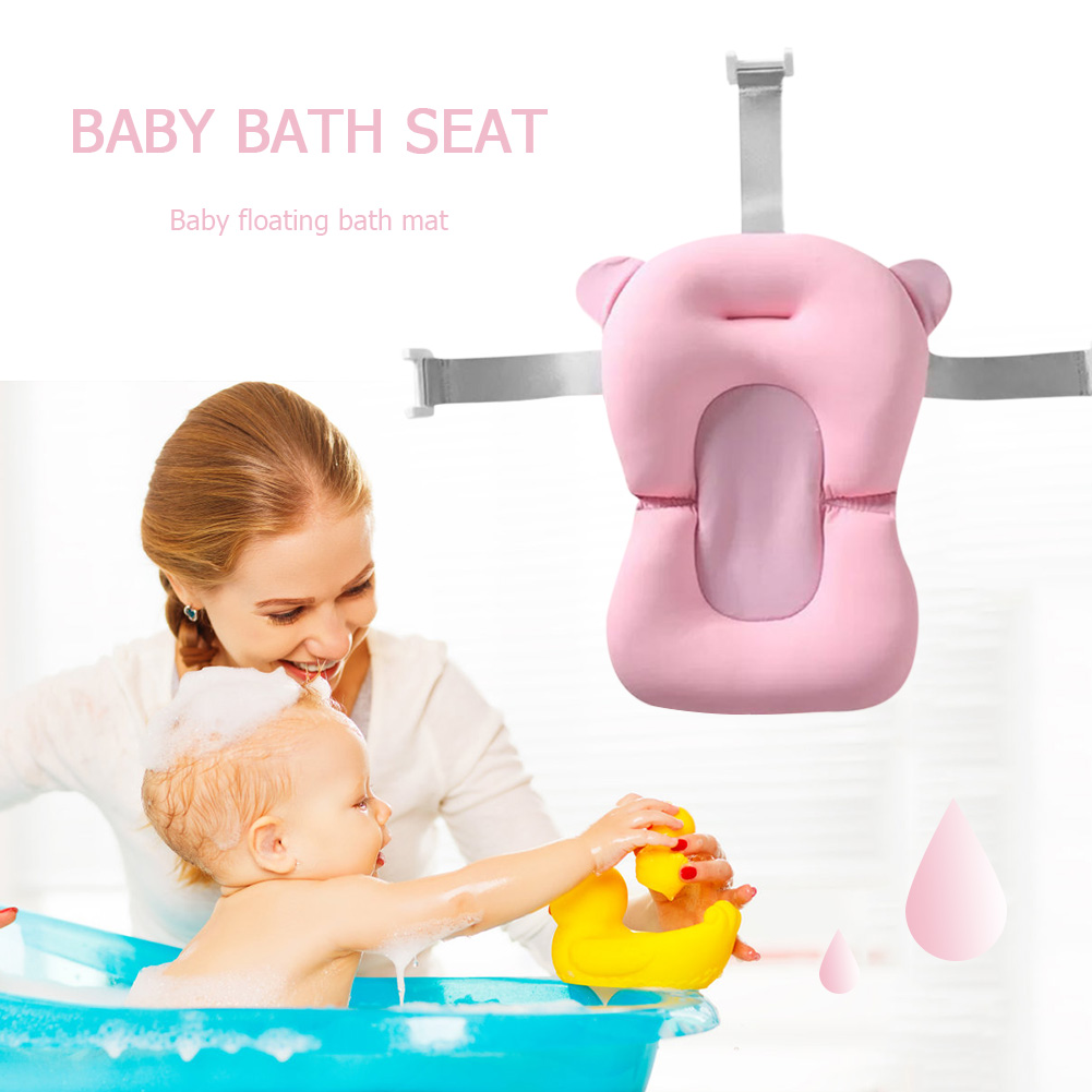 Portable Newborn Safety Security Bathtub Seat Infant Anti-Slip Soft Support Mat Support Cushion Foldable Soft Pillow