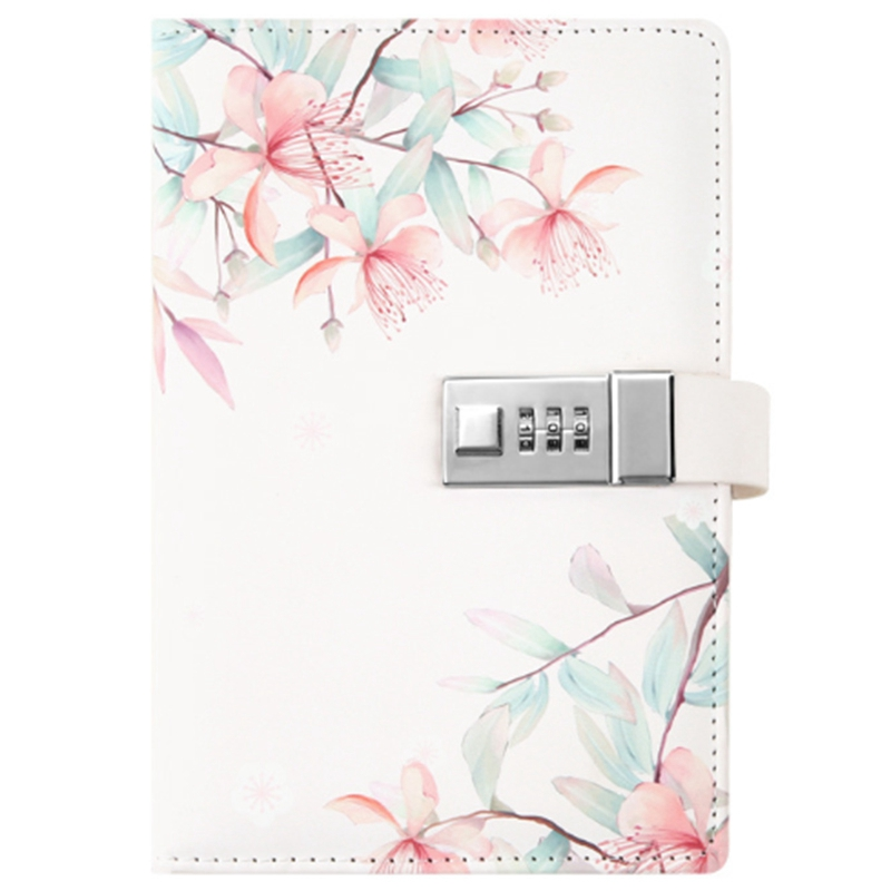 Notepad Sub-Notebook Diary With Lock Hand Book Password Lock Notebook Travel Planner Journal Student Girl Code Lock Note Books O
