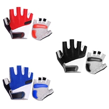 Men Women Half Finger Cycling Gloves Bicycle Sports Riding Padded Fingerless Motorcycle Fitness Training Anti-Slip