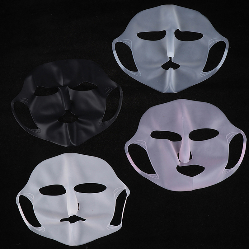 1Pc Silicone Face Skin Care Mask Cover For Sheet Mask Reusable Pink/White Prevent Evaporation Steam Reuse Waterproof Mask