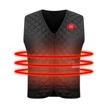 2019 Outdoor Men Electric Heated Vest USB Heating Vest Winter Thermal Electric Clothe Camping Hiking Warm Hunting Waistcoat D25 original xiaomi mijia pma graphene multifunctional heating men vest washable warm business waistcoat for adult man