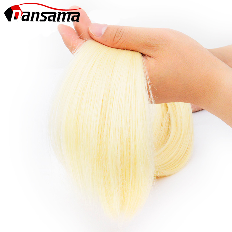 Dansama 22 Inch 40 pcs/pack Natural Tape In Hair Extensions Seamless Invisible Synthetic Weaving Adhensive Straight Blonde Ombre