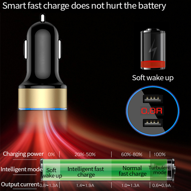 Podwójny USB szybka ładowarka samochodowa zasilacz gniazdo zapalniczki dla Toyota Corolla RAV4 Camry Prado Yaris Hilux Prius Land Crui