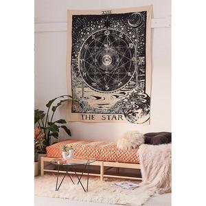 Image 3 - הודו כישוף טארוט קיר שמש ירח קיר שטיח קיר שטיח פסיכדלי Tapiz כישוף קיר בד שטיח