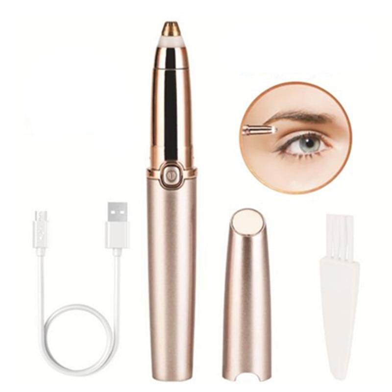 USB Rechargeable Portable Mini Electric Epilator Eyebrow Trimmer Makeup Eye Brow Shaver Razors Women Depilator Painless 30#