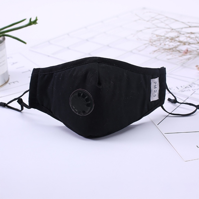 Cotton Breathable Face Mask Filter Respirator Reusable Anti Haze Foldable Mask Dust Flu PM 2.5 Activated Carbon 4