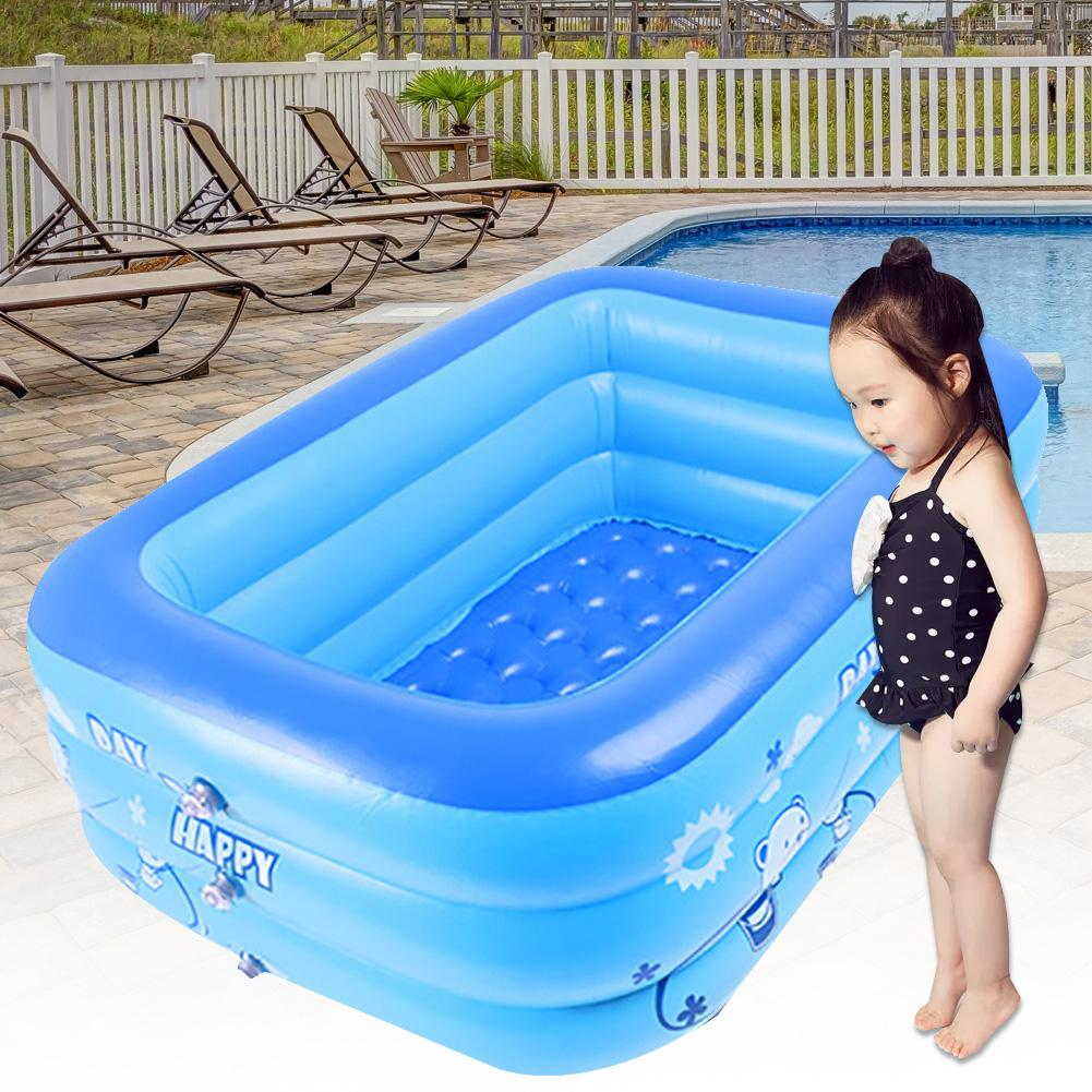 Portable Cartoon Irectangle Nflatable Baby Children Parents Interactive Water Play PVC Home Garden Bathing Tub Swimming Pool