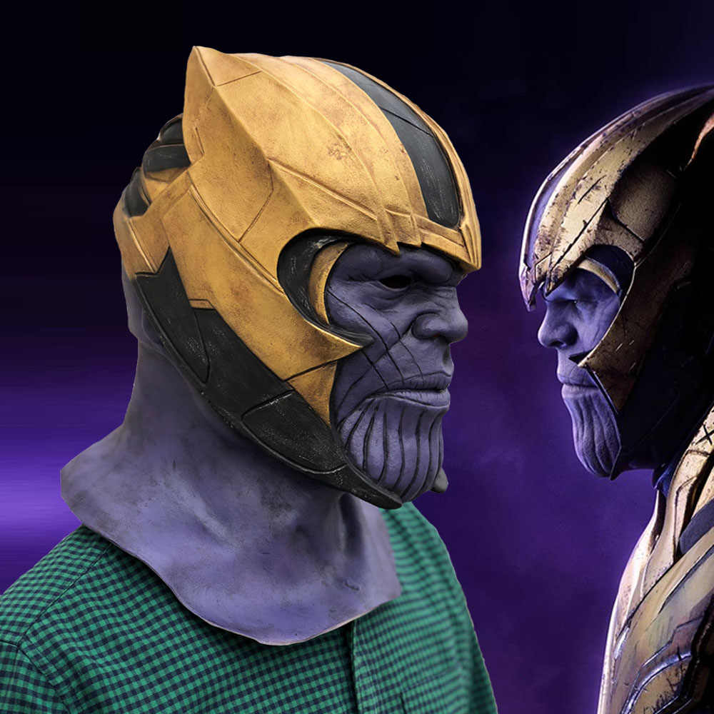 The avengers Endgame Thanos Cosplay Mặt Nạ Mũ Bảo Hiểm Infinity Gauntlet Marvel Siêu Anh Hùng The Avengers Mặt Nạ Halloween Party Prop