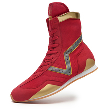 Men Professional Boxing Wrestling Shoes Anti-Slip Fighting Weightlifting Sneakers Male Mesh Breathable Training Fighting Boots