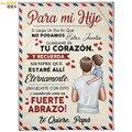 HUGSIDEA para mi hija Испанская версия Премиум Флисовое одеяло шерпа домашний Декор Спальни пользовательские фланелевые одеяла для детей одеяла