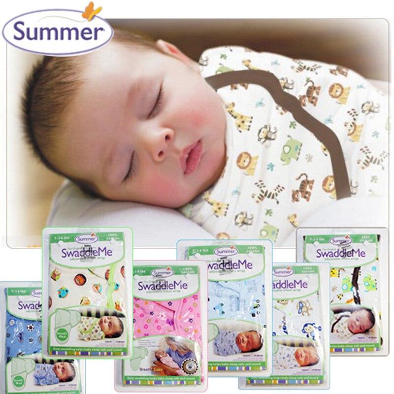 Nouveau-né bébé Swaddle été Wrap Parisarc 100% coton doux infantile bébé sac de nuit couverture et emmaillotage enveloppe sac de sommeil taille S/L