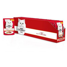 Корм влажный Gourmet Mon Petit для кошек с лососем, 50 г(30 шт