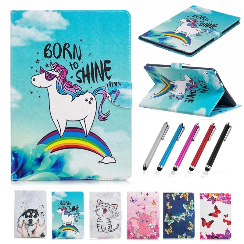 Kawaii Unicorn Cat Puppy Case For Huawei Mediapad T3 7 Case Magnet Folding Cover For Huawei T3 7 Case 3G BG2-U01 7.0 Inch
